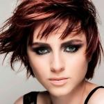 franja repicada para cabelos ruivos